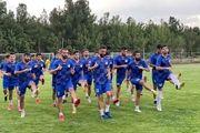 شروع تمرینات تیم فکری در تهران