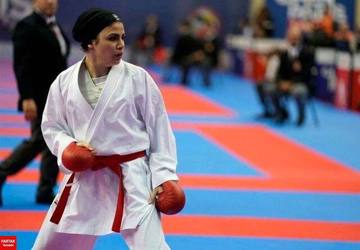 کاراته المپیک توکیو/ پیروزی سارا بهمنیار مقابل قهرمان جهان
