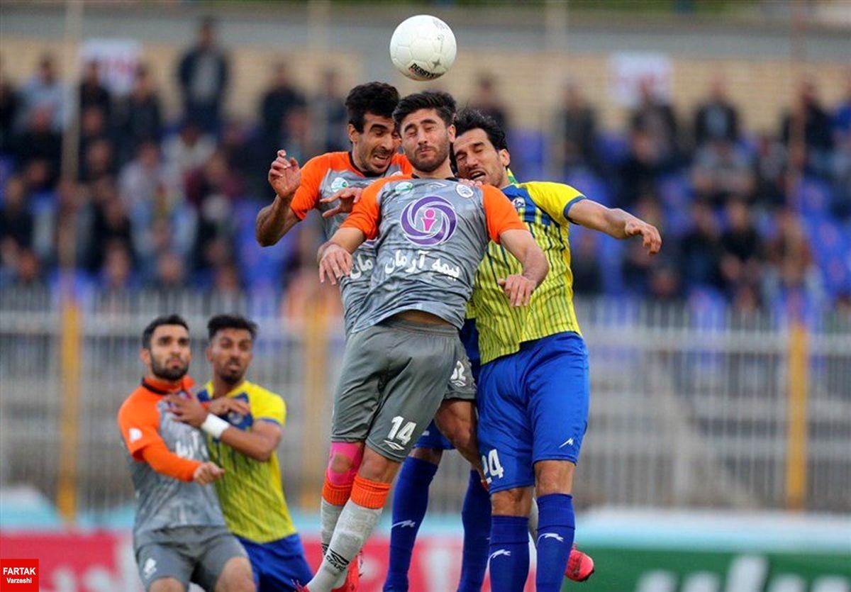 پیروزی نفت مسجدسلیمان مقابل سایپا در پایان نیمه نخست