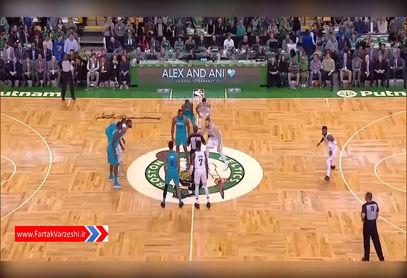 خلاصه بسکتبال بوستون سلتیکس 90 - 87 شارلوت هورنتز+فیلم