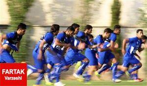 تمرین آبی پوشان تهرانی بدون تماشاگر