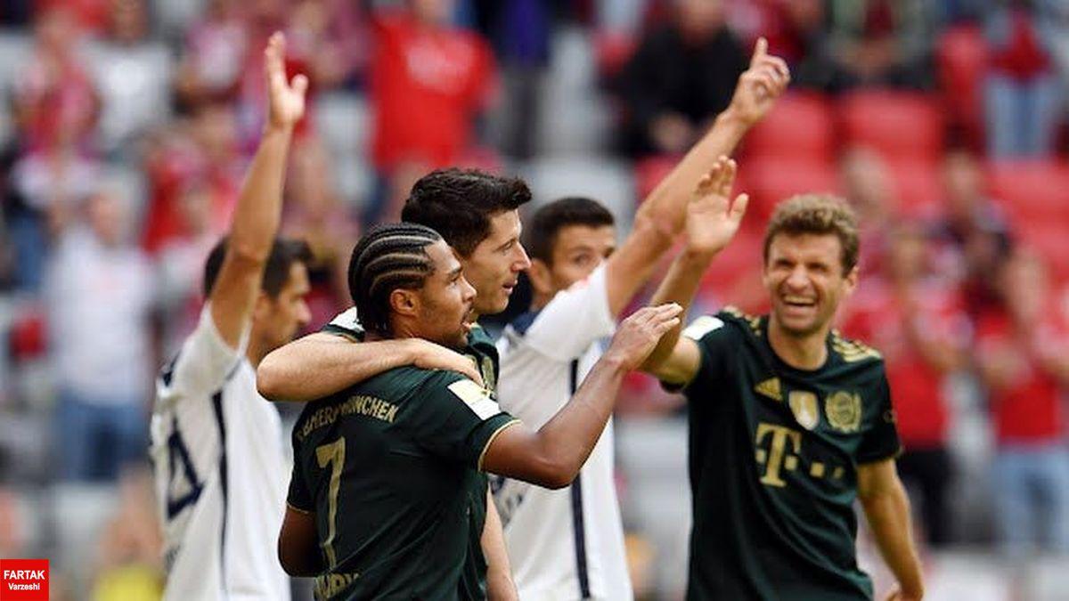 پیروزی پرگل بایرن مونیخ مقابل بوخوم با ۷ گل