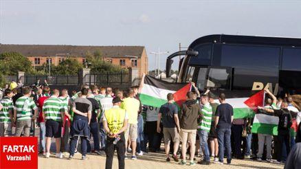 مجازات سلتیک توسط یوفا به خاطر نمایش پرچم فلسطین