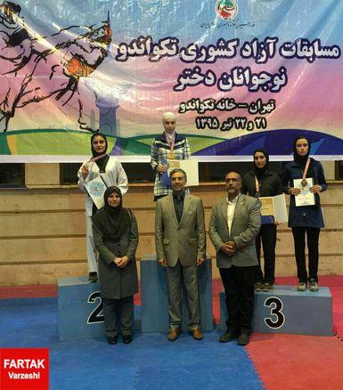 غزل عزیزی نقره تکواندو قهرمانی کشور را تصاحب کرد
