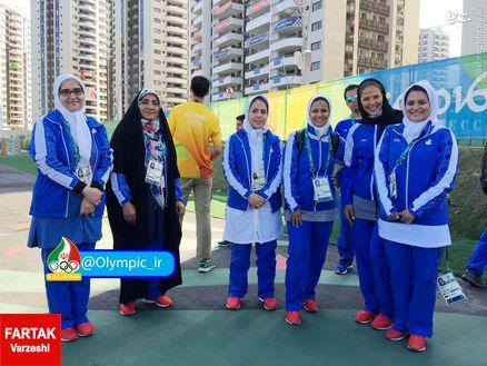 عکس/ بانوان المپیکی ایران در دهکده المپیک