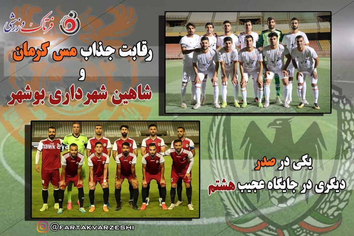 رقابت جذاب مس کرمان و شاهین شهرداری بوشهر/ یکی در صدر دیگری در جایگاه عجیب هشتم
