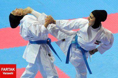 درگیری و کتک کاری در مسابقات انتخابی کاراته بانوان!