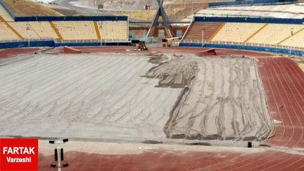 آخرین وضعیت ورزشگاه یادگار امام تبریز؛ همچنان شن زار+ عکس