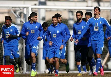 گزارش تمرین استقلال/ حضور بازیکنان در جلسه آنالیز
