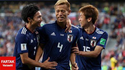 برتری ژاپن مقابل عمان در نیمه نخست با اشتباه واضح داور