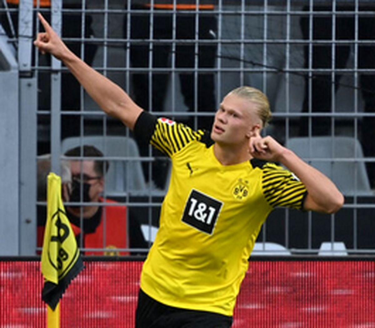 پیروزی پر گل دورتموند با درخشش هالند
